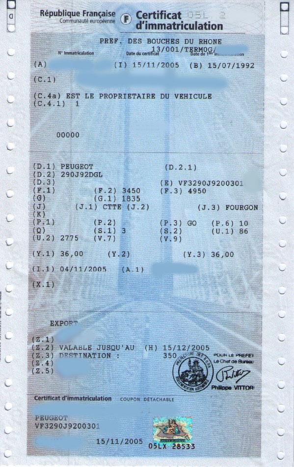 Carte grise: francuski dowód rejestracyjny.
