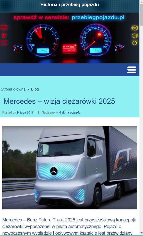 wersja mobilna strony przebiegpojazdu.pl