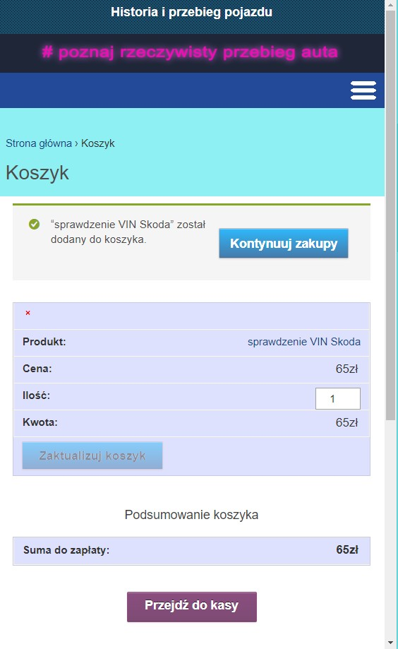 wersja mobilna formurz zamówienia