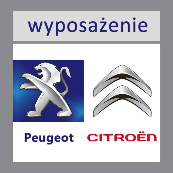 Wyposażenie fabryczne Citroen Peugeot